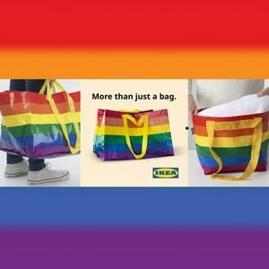 🌈IKEA 3pc Rainbow Pride Bunddle 2 Large 1 Mini🌈